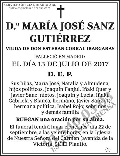 María José Sanz Gutiérrez